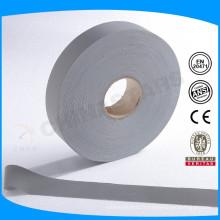 100% polyester 2''grey ruban réfléchissant de sécurité en stock de masse