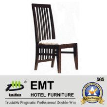Cadeira elegante do hotel de madeira do design da costas do encosto (EMT-HC82)