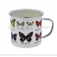 Logotipo personalizado impressão esmalte borboleta caneca alimentos safty mas não máquina de lavar louça