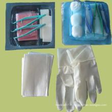 Kit de vaisselle jetable jetable Kit de pansement stérile