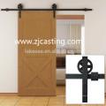 hardware de la puerta de granero de desplazamiento de madera al por mayor chino / sistema de puerta de granero