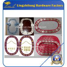 Chaîne de collier d'épée maçonnique de bijoux faits sur commande de mode