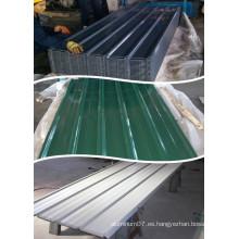 Chapas de techos de aluminio recubiertas de color rojo azul gris y verde