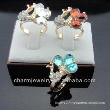 Bijoux en anneaux de mode les plus récents de 2014 avec des images en anneau de robinet en strass RE-005