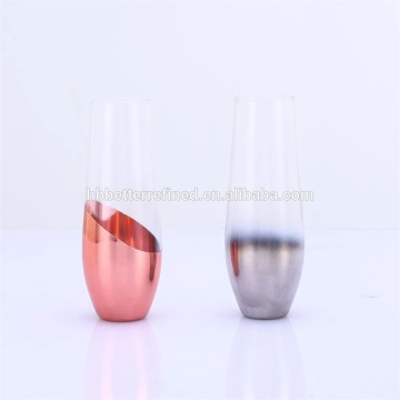 يد منفوخة 8oz Stemless Flutes Champagne Glass