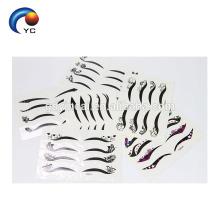 Kundenspezifischer Eyelineraufkleber ungiftiger gefälschter Tätowierungsaufkleber