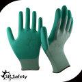 SRSAFETY 13 калибровочных трикотажных нейлоновых лайнера с покрытием на водной основе PU пальмовые перчатки защитные рабочие перчатки