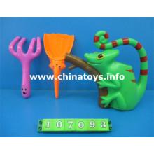 Plastic Beach Set Toy. Seau de plage de jouet d'été, Spade (107093)