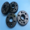 Custom blackened spur gear shaft & gear