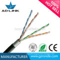 Outdoor network wiring single jacket / double jacket cable utp cat5e in communication cables
