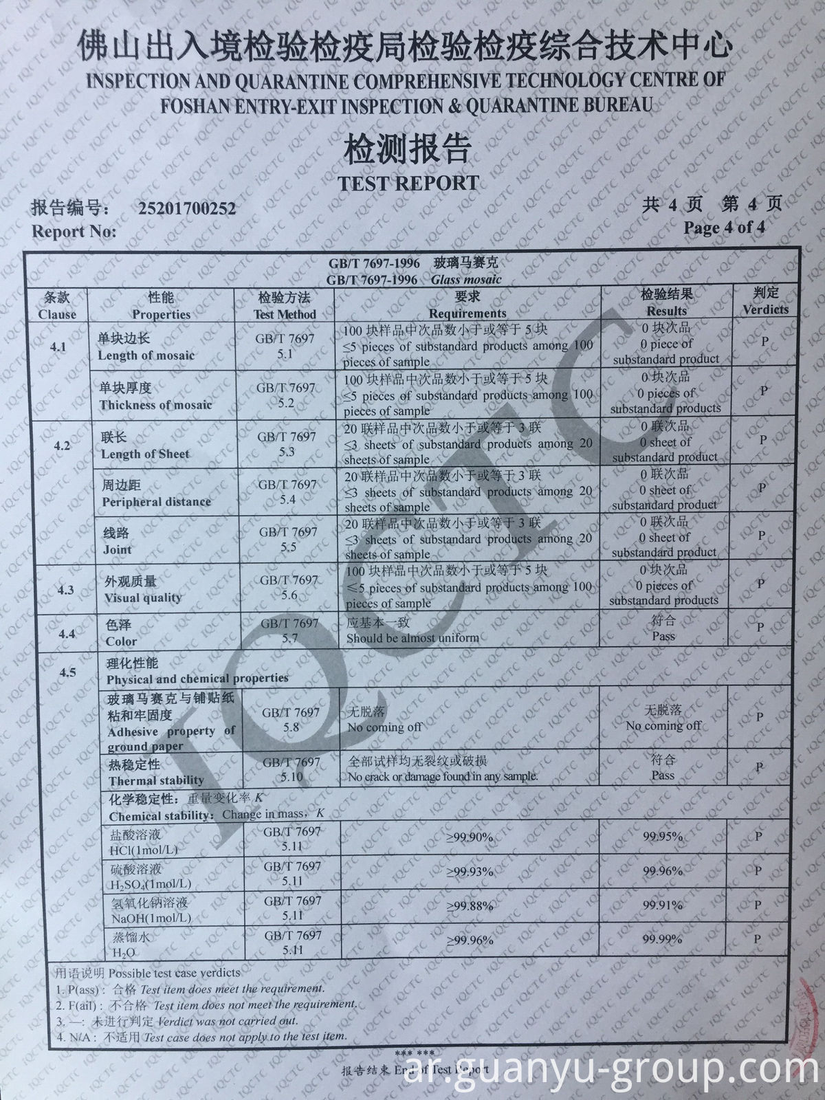 Guanyu Mosaic Test Report P4
