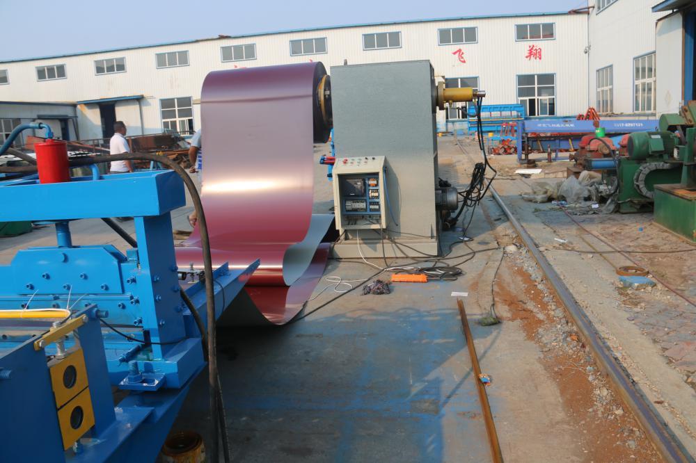 Panel de cubierta de acero hidráulica formando Mahcine con Aceite Pumb