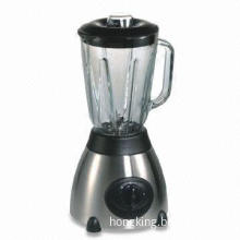 Commercial Food Blender with 500W Power, Glass Jar and Rubber Feet