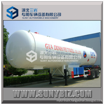 Double Axle LPG Tank Truck Semi Trailer