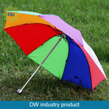 FACTORY CHEAP 190T PROMOTIONAL RAINBOW UMBRELLA