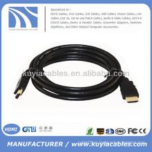 Negro Cable HDMI 6.6 pies 6.6 pies 6.6 FT 2M chaqueta de PVC