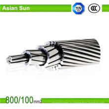 Накладные голые алюминиевые СТАЛЕАЛЮМИНИЕВЫЕ провода кабеля для ASTM стандарты BS