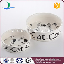 Nette Entwurfs-keramische Großhandelshaustier-Schüsseln für Katzen