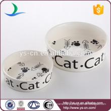 Cute Design cerâmica por atacado pet tigelas para gatos