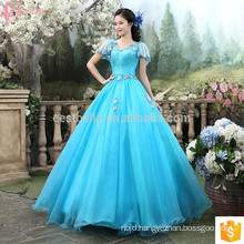 Alibaba Online Cinderella Royal Blue Special Occasion Party Gowns Princess Style Real Sample Ball Gown Wedding Dress