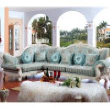 Ткань диван / гостиной диван / диван деревянная (ЖЛ-с d801)