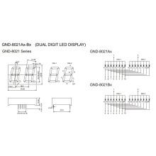 0.8inch 2 Digit 7 Segment Display (GNS-8021Ax-Bx)