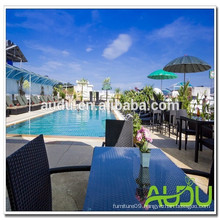 Audu Thailand Sunny Hotel Project Wicker SunBed