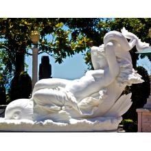 Décoration de la maison Sculpture à la main Belle Sculpture de marbre Nu féminin