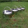 4 Pieces One in One, utensílio de cozinha de aço inoxidável Set / Camping Hanging Pot Set