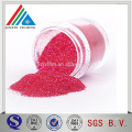 Excellent color equlity Polyster Red Glitter Powder for Decoration