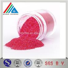 Excelente cor equlity Polyster Red Glitter Powder para Decoração