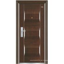 Walnuss Farbe Platte Stahl Sicherheit Tür