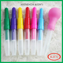 Colored Ink Type Kids Painting Blow Pen Set