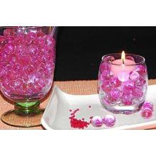 Perles d'eau de sol en boue cristallines colorées