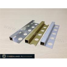 Alumínio Square Schluter Strip10mm altura em três cores
