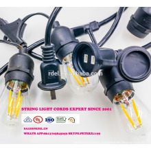 SL-32 Wholesale christmas pendant decorative string light E26 lamp socket ac power cord with inline switch