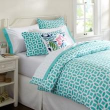 Pamuk düz ev yatak levha kumaş