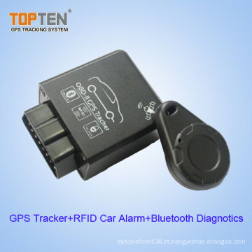 OBD2 GSM Rastreador sem fio do GPS com RFID e diagnósticos de Bluetooth (TK228-WL)