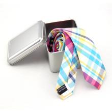 Vente chaude élégante conception hommes cravate en soie cadeau boîte