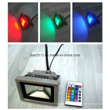 10W IP65 RGB controlador remoto LED Floodlight