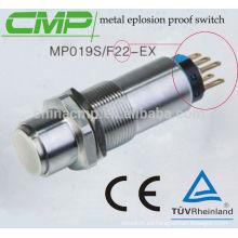 Pulsador de explosión a prueba de explosiones de acero inoxidable CMP ip68
