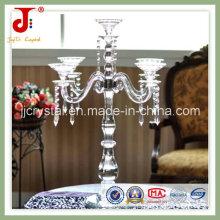 Centerpieces de cristal luxuosos para o casamento