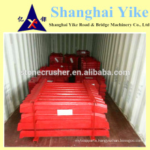 movable/swing and fixed jaw plate for jaw stone crusher spare parts 250X400,250x1200 SHANGBAO SMB mesto,sandvk,etc