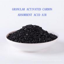 Impregnated hidróxido de potasio granular activado carbón ácido adsorbente aire