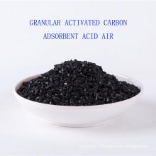 Hydrogène de potassium imprégné granulaire charbon actif adsorbant acide