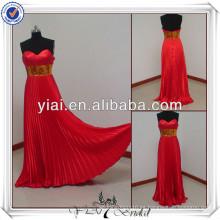 PP2047 piso de longitud patrones de color rojo y púrpura para los vestidos de damas de honor