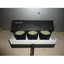 Promotion Gift Scented Black Glass Jar Candle Set