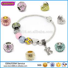 Charme personnalisé de perles de mode de haute qualité pour les bracelets de mariage