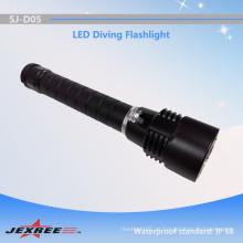 Jexree personalisierte Tauch-Taschenlampe starke Macht XM-L2 versteckte Taucherfackel für Tauchen geführt (2 * 18650)