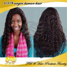 Chegada nova Linda peruvian Loose onda cheia do laço perucas para as mulheres negras com linha fina natural